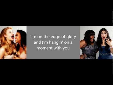 Glee- Edge of glory Lyrics