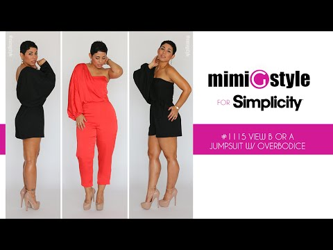 Xxx Mp4 How To Sew The Mimi G Style For Simplicity Pattern 1115 View A Or B Jumpsuit With Overbodice 3gp Sex