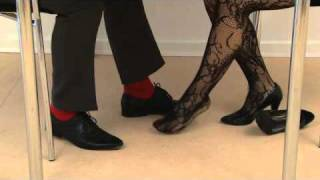 SEXY FEET - a sexual harassment tv spot with footsie
