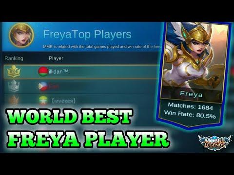 BEST WORLD FREYA PLAYER GAMEPLAY + BUILD   MOBILE LEGENDS