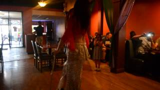 belly dancer samantha - belly dancing with a cane :)