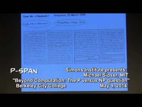 Xxx Mp4 P SPAN 373 Beyond Computation The P Versus NP Question Lecture By Dr Michael Sipser 3gp Sex