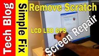 How to Reduce or Remove Scratch from LCD or LED Monitor Plastic Screen Repair*
