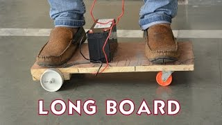 How to Make a Electric Longboard - Easy Way - For Kids
