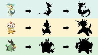 All Gen 5 Starter Evolutions Type Swap Fanart | Pokemon Type Swap #62