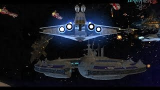 Huge Star Wars The Clone Wars Space battle from Empire At War FOC Republic Clone Wars Mod HD