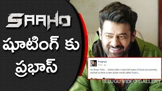 Prabhas Joins In Saaho Movie Shooting From Today | Shraddha Das | Sujeeth