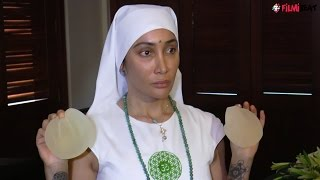 Sofia Hayat displays her silicon breast implants in front of media, watch video | Filmibeat