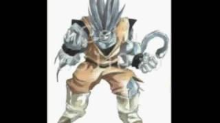 Trasformaciones de Goku (desde ssj1 hasta ssj10).