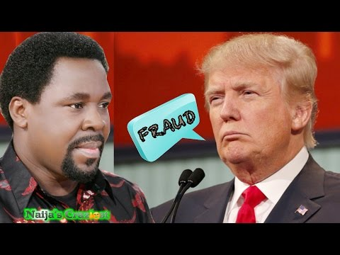 Trump Bans T.B Joshua From  America Over False Prophecy On U.S Presidential Elections