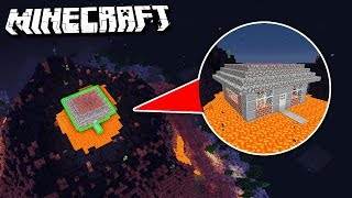 House INSIDE a GIANT VOLCANO in Minecraft!
