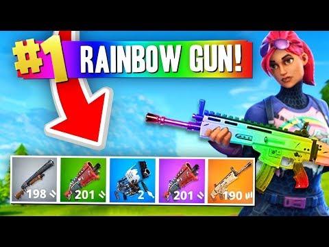 The RAINBOW GUN Challenge Fortnite Battle Royale