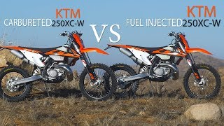 Fuel Injected 2 stroke VS Carbureted 2 Stroke KTM 250 XC-W - Dirt Bike Magazine