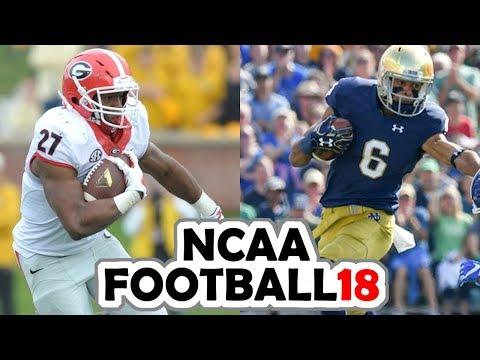 Georgia @ Notre Dame - 9-9-17 NCAA Football 18 PRESEASON Simulation