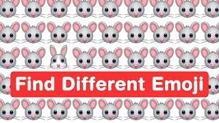 Find Odd WhatsApp Emoji - Genius Eyes Challenge
