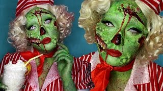 Pin-up Zombie Halloween Costume Makeup Tutorial