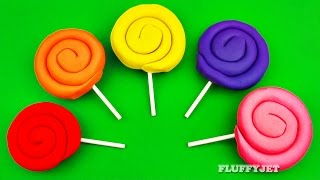 Learn Colors with Play Doh Curly Lollipop Surprise Toys for Children Shopkins Cars 2