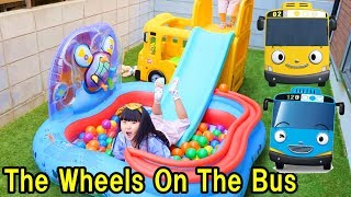 Learn colors with Wheels On The Bus Tayo Little Bus Nursery Rhymes Songs