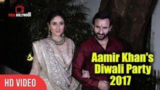 Gorgeous Kareena Kapoor Khan With Saif Ali Khan At Aamir Khan's Diwali Party 2017 | Viralbollywood