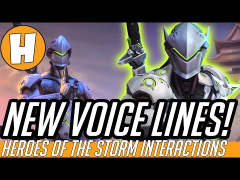 Overwatch NEW Genji Voice Lines and Interactions Heroes of The Storm