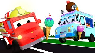 The ice cream truck with Tiny Town: Learning with Street Vehicles Ambulance Police Car Fire truck