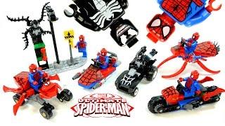 Spider-Man vs Venom Vehicle Pack LEGO KnockOff Set Review Marvel Superheroes