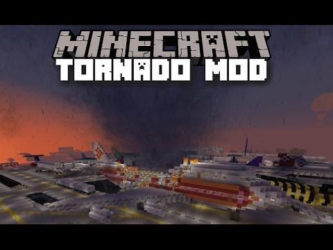 Minecraft TORNADO MOD / SURVIVE THE WILD HURRICANE!! Minecraft