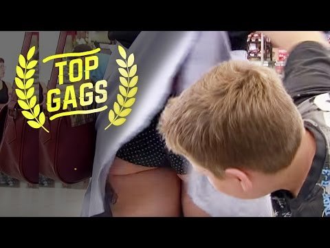 Kid Lifts Up Woman s Skirt