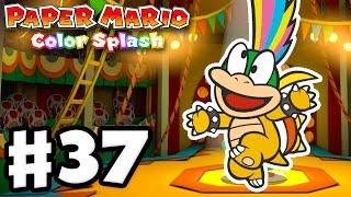 Paper Mario: Color Splash - Gameplay Walkthrough Part 37 - The Emerald Circus 100%! (Nintendo Wii U)