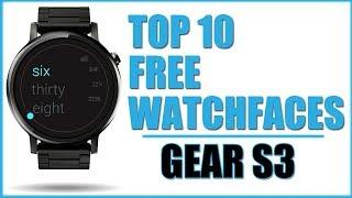 Die BESTEN FREE Watchfaces für Samsung Gear S3 Sport,  Android Wear