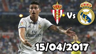James Rodriguez Vs Sporting de Gijón (15/04/2017) HD 720