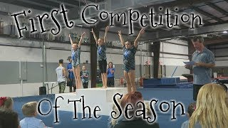 First Gymnastics Competition Of The Season  Rachel Marie