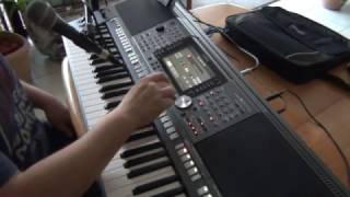 Keyboard boys of summer PSR S970 Tyros vocal cover