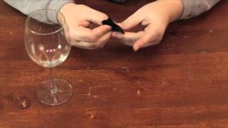 How to Make a Ribbon Bow Tie for the Toasting Glasses : Decorative Crafts for All!