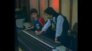 Jean Michel Jarre demonstrates instruments in the studio (1987)