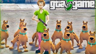 GTA 5 Mods - Scooby Doo Atacando a GROVE STREET! (GTA V Mods Gameplay)