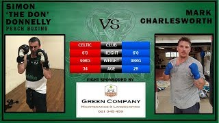 Fight 4: Simon 'The Don' Donnelly vs Mark Charlesworth - ABA Stadium 18Nov17 - Peach Boxing