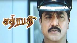 Chatrapathy | Chatrapathy Tamil Full Movie scenes | Climax | Sarathkumar answers to Ravichandran