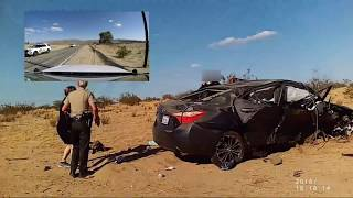 UFO Seekers Comfort Baby After Car Crash In 29 Palms, CA