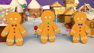 Tre Pepparkaksgubbar - Julsånger för barn - BarnMusikTV.se