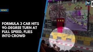 Formula 3 car hits 90-degree turn at full speed, flies into crowd