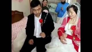 Young boy married with old lady
