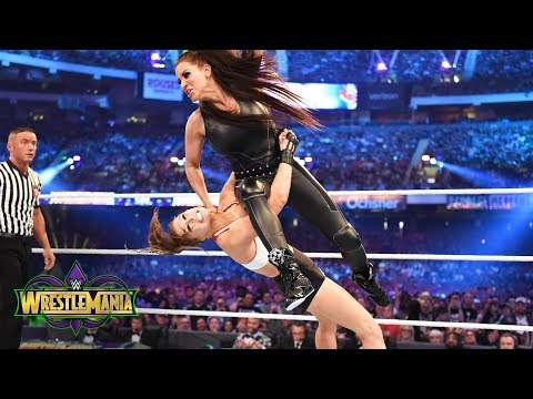 Xxx Mp4 Ronda Rousey Shows No Mercy Against Stephanie McMahon In Her WWE In Ring Debut WrestleMania 34 3gp Sex