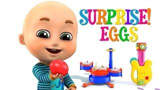 Surprise Eggs |  Musical Toys for Kids |  Nursery Rhymes from Jugnu kids