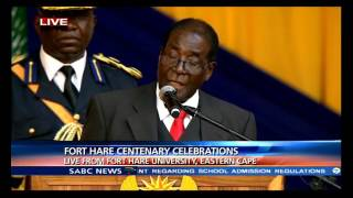 Robert Mugabe's Fort Hare centenary celebration speech