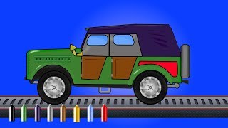 kids tv channel | learn colors with jeep | coloring book