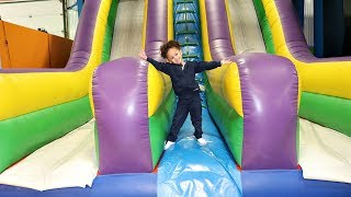 Indoor Playground Family Fun Play Area For Kids GIANT INFLATABLE SLIDES and Bounce House