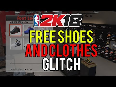 NBA 2K18 - HOW TO GET FREE SHOES / CLOTHES | FREE SHOES / CLOTHES GLITCH (100% WORKING)