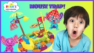 Family fun game for kids Mouse Trap Egg surprise Toys Challenge Ryan ToysReview