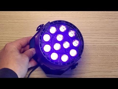 Teardown of a DMX controlled UV disco light.